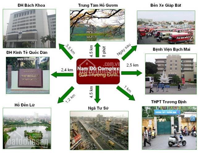 Bán căn hộ chung cư Nam Đô Complex 609 Trương Định cực đẹp CT1A 94m2, 3PN, 2 WC, giá 2,5 tỷ ảnh 0