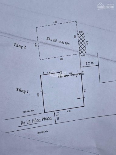 Nhà sau lưng mặt tiền Lê Hồng Phong. DT: 21m2 giá 3,078 tỷ ảnh 0