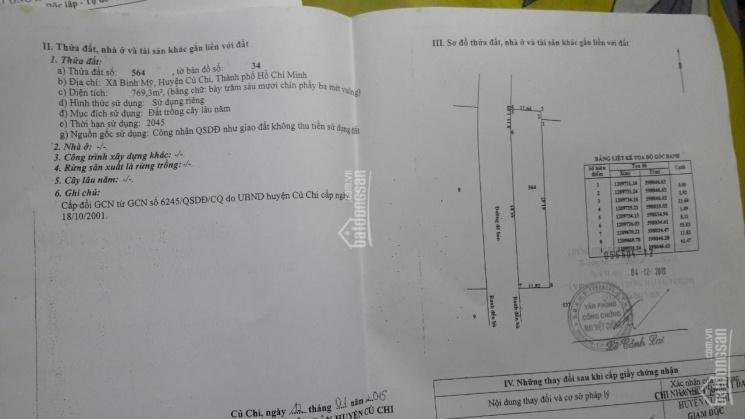 Bán đất mặt sông Sài Gòn (107 x 67 = 7.170m2 xã Bình Mỹ, Huyện Củ Chi, TPHCM ảnh 0