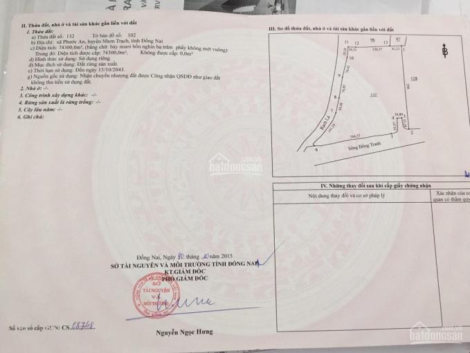Bán 30 ha đất Phước An, Nhơn Trạch, Đồng Nai, vui lòng LH Linh: 098.995.2837 ảnh 0