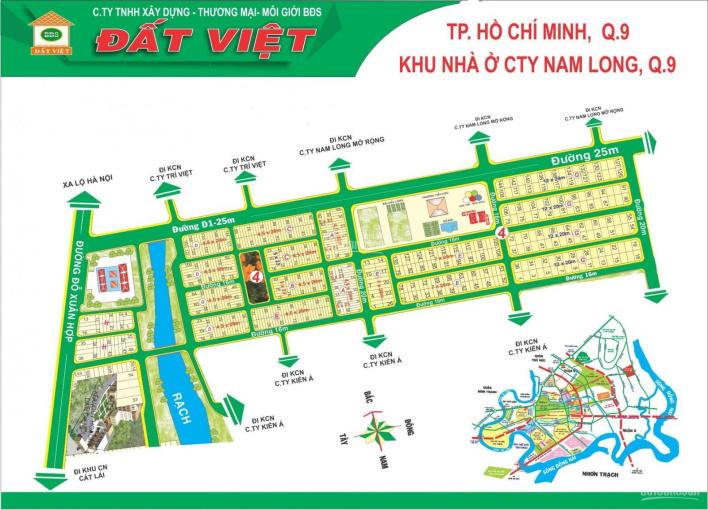 Bán đất khu dân cư Nam Long, Phước Long B, Quận 9, sổ đỏ riêng chính chủ ảnh 0