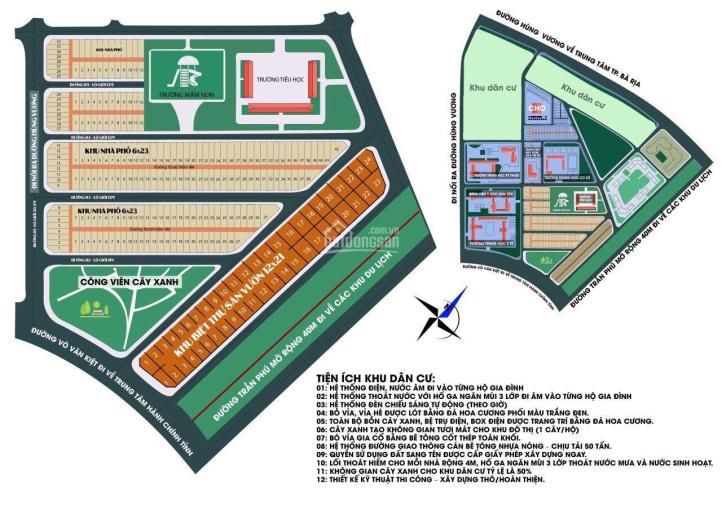 Bán đất Bà Rịa, dự án Thanh Sơn C, mặt tiền Võ Văn Kiệt công viên 0937979489 zalo. Lô D2/19 ảnh 0