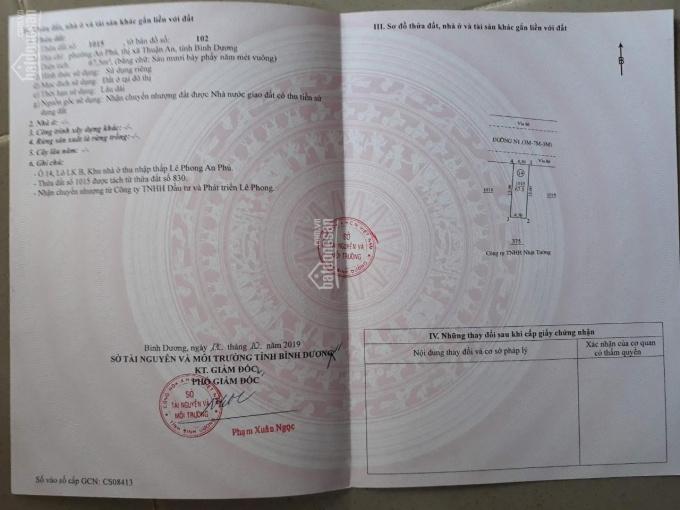 Đất ở sổ hồng chính chủ thổ cư 100%, TP Thuận An Bình Dương. LH: 0983000801 (Nam) ảnh 0
