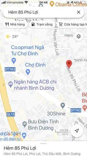 Rẻ hơn 10 tr/mét đất chợ Đình Đường 85 thông Phú Lợi Huỳnh Văn Lũy 11x27m, giá 9,15 tỷ bao đầu tư ảnh 0