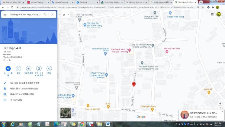 Bán 120m2 đất mặt tiền đường Tân Hiệp 4 - 3, gần chợ Hóc Môn, đường trước đất 6m, giá chỉ 2.75 tỷ ảnh 0