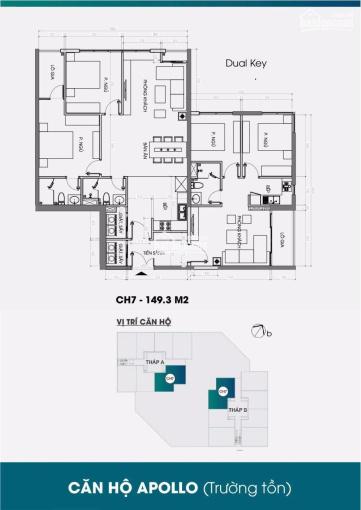 Bán căn hộ 4 PN 150m2 dual key bàn giao cơ bản giá chỉ 37tr/m2, view bể bơi cực đẹp, LH: 0878135887 ảnh 0