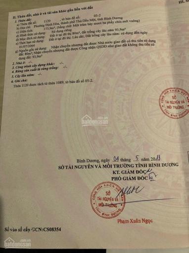 Bán lô đất Định Hoà, Thủ Dầu Một DX 064 DT 5x35m, thổ cư 80m2, giá 2.250 tỷ ảnh 0