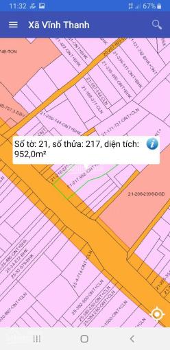 952m2 đất thổ vườn, mặt tiền đường Hùng Vương, xã Vĩnh Thanh, cần bán ảnh 0
