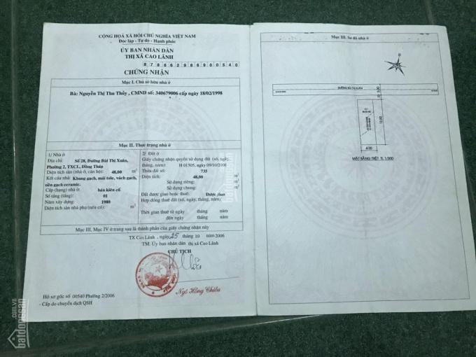 Bán nhà và đất đường Bùi Thị Xuân, phường 2, Thành phố Cao Lãnh. LH 0986.904.186 ảnh 0