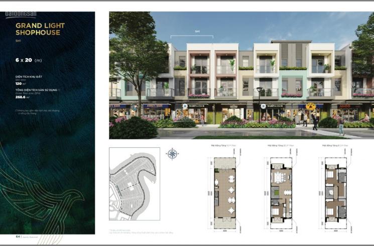 Cần bán shophouse hai mặt tiền trục đường 40m và 12m tại Aqua City, TP Biên Hòa, liên hệ 0902622279 ảnh 0