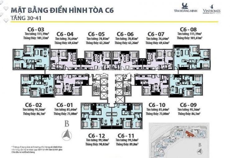 Bán cắt lỗ C6, C7,C1, DT 70m2, DT 82m2, giá 2,9 tỷ D'Capitale Trần Duy Hưng ảnh 0