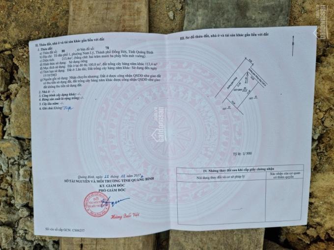 Cần bán lô đất Đặng Minh Khiêm dãy 3 đường Phạm Văn Đồng 36m, Phường Nam Lý, Đồng Hới, Quảng Bình ảnh 0