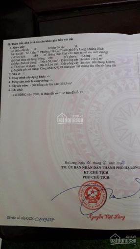 Chính chủ cần bán đất vàng giá đầu tư cực rẻ chỉ duy nhất 1 lô tại phường Hà Tu, Hạ Long, QN ảnh 0