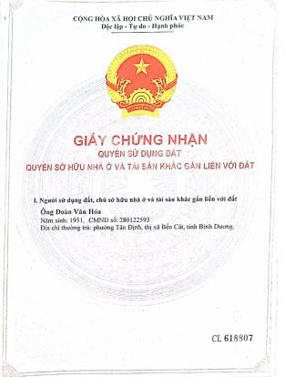 Chính chủ bán lô đất MT QL13, Tân Định, Bến Cát, Bình Dương LH 0987899899 ảnh 0