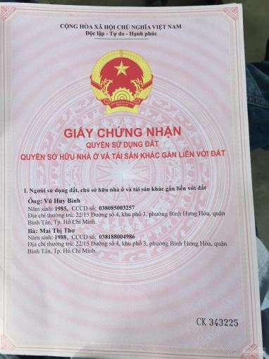 Bán nhà cấp 4, mặt tiền đường Nguyễn Thị Tú, P. Bình Hưng Hoà B, Quận Bình Tân ảnh 0