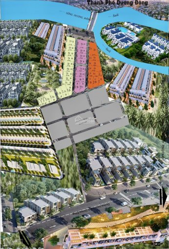 Cơ hội đầu tư siêu lợi nhuận, đất SHR khu ven sông Đông Dương, kp5 thị trấn Dương Đông, 11.5tr/m2 ảnh 0