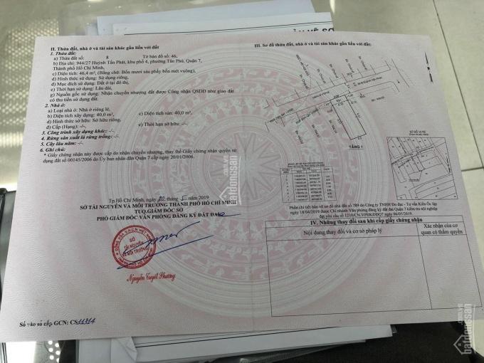 Tôi cần bán nhà HXH P.Tân Phú, Q7. Giá 3,3 tỷ, LH 0979153933 ảnh 0