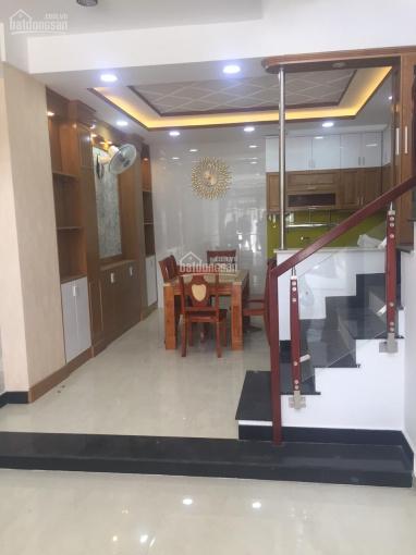 Cho thuê nhà Phan Huy Ích 4x15m đúc 2 lầu 2pn hẻm xe hơi giá 8 triệu/th lh 0935206233 ảnh 0