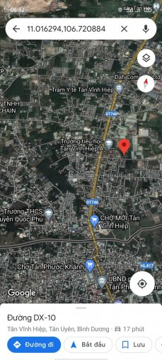 Bán 300m2 đất tặng phòng trọ, P. Tân Vĩnh Hiệp, Tân Uyên chỉ 1tỷ6. LH 0865736524 ảnh 0