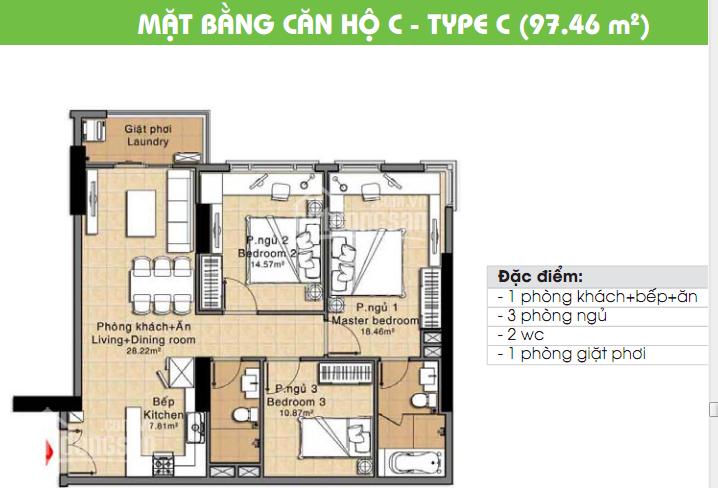 Cần bán gấp căn hộ Era Town Đức Khải, Q7, 1tỷ950, 97m2, 3PN, LH: 0902339985 ảnh 0