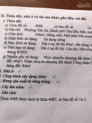 Cần bán nhà cấp 4 mặt tiền DX, Tân An, Thủ Dầu Một ảnh 0