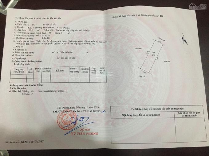 Bán đất ngõ phố Đức Minh, phường Thanh Bình, thành phố Hải Dương ảnh 0