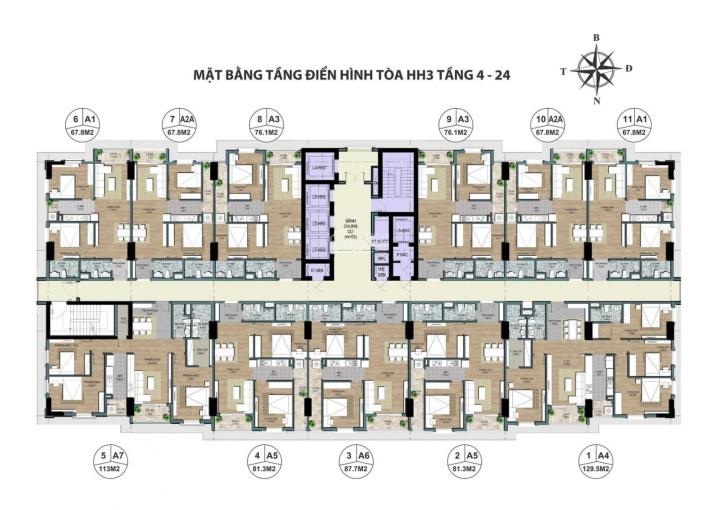 Bán chung cư cao cấp 2,3,4 phòng ngủ chỉ từ 2,5 tỷ ở Cổ Nhuế - Chèm ảnh 0