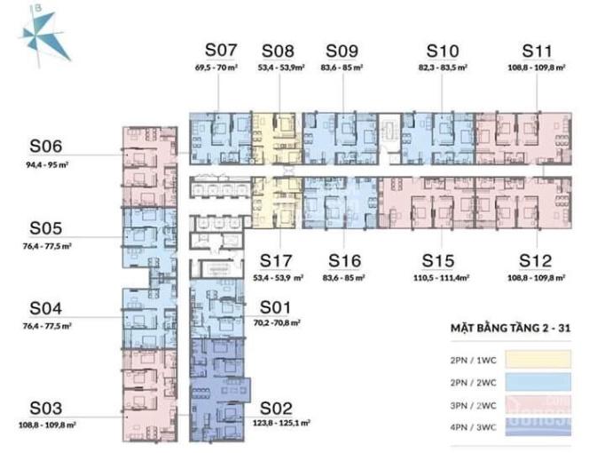 Chính chủ chuyển nhượng căn góc 3PN ban công ĐN dự án Mipec Rubik 360 ảnh 0