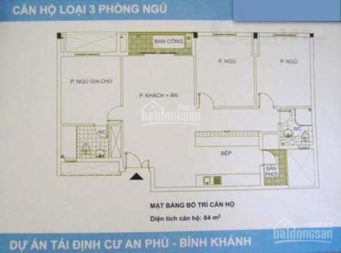 Bán chung cư Bình Khánh, nhà B, lô CD, 3PN, sổ hồng, Quận 2 ảnh 0