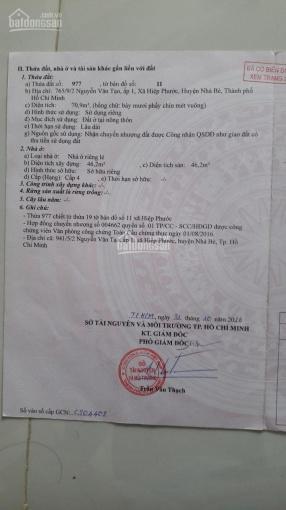 Bán nhà 72m2 hẻm Nguyễn Văn Tạo, Hiệp Phước - Nhà Bè, giá 2.5 tỷ bao sang tên ảnh 0