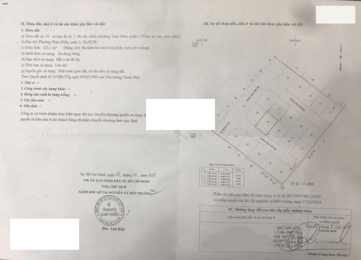 Bán lô đất thổ cư đường 66, Thảo Điền với 322.1m2 sổ hồng khu vip an ninh. Call 0977771919 ảnh 0