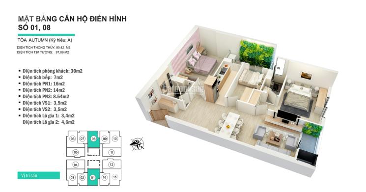 Bán nhanh căn 3 phòng ngủ 90m2 tòa S2 chung cư 47 Nguyễn Tuân giá 3.1 tỷ. LH: 0961000870 ảnh 0