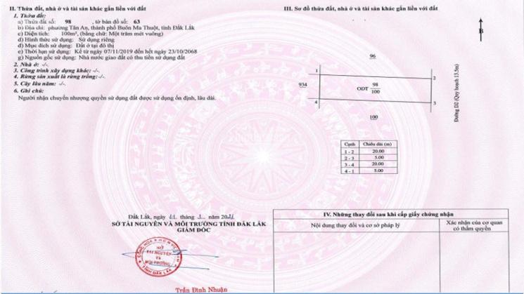 Đã có sổ đỏ - 05 lô đẹp nhất KĐT Ân Phú TT khu hành chính mới TP. BMT chỉ 22 triệu/m2 - hỗ trợ 70% ảnh 0