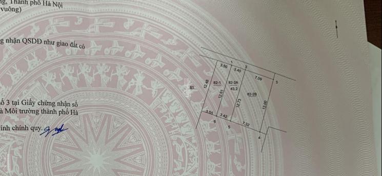 Bán lô đất 43.2m2, mặt tiền 3.4m, nở hậu 3.42m, cách trục đường Quang Lãm 100m, giá 1.63 tỷ ảnh 0