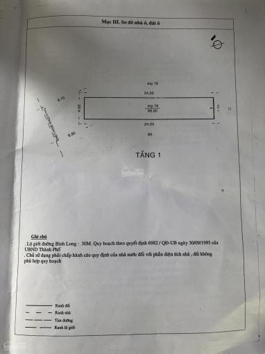 MTKD Bình Long, P. Phú Thạnh, DT: 4x25m (2 lầu + sân thượng) giá 12.5 tỷ TL ảnh 0