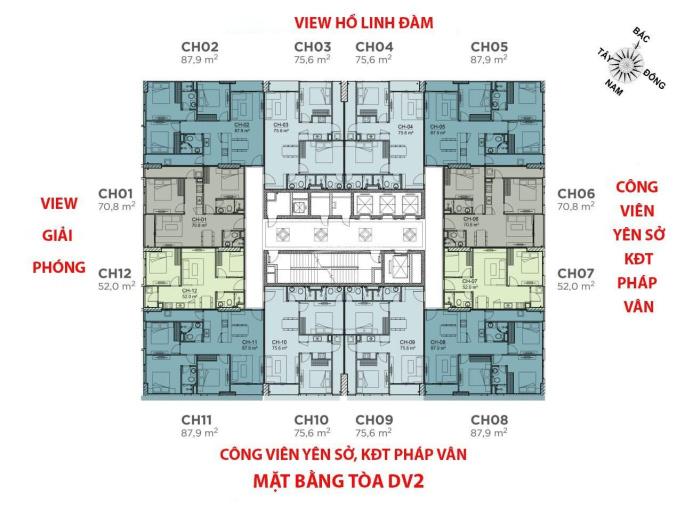 Bán suất ngoại giao căn 3 ngủ CC Rose Town - 79 Ngọc Hồi diện tích 88m2, view CV Yên Sở. 0961000870 ảnh 0