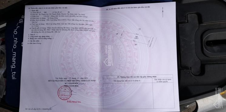 Chính chủ bán lỗ lô đất gần Nguyễn Chí Thanh-Tân Biên-Tây Ninh, DT 315m2, giá chỉ 360tr, SHR ảnh 0