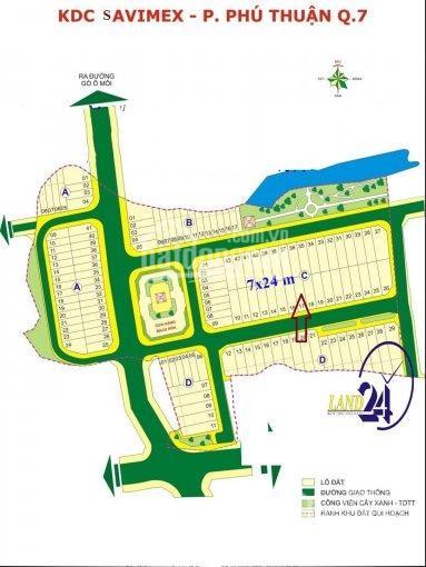 Cần bán gấp lô đất KDC Savimex mặt tiền đường 16m, DT 168m2 hướng nam giá chốt 63 triệu/m2 ảnh 0