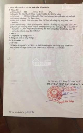 Chủ gửi 627m2 đất MT Nguyễn Kim Cương, giá 7.1 tỷ ảnh 0