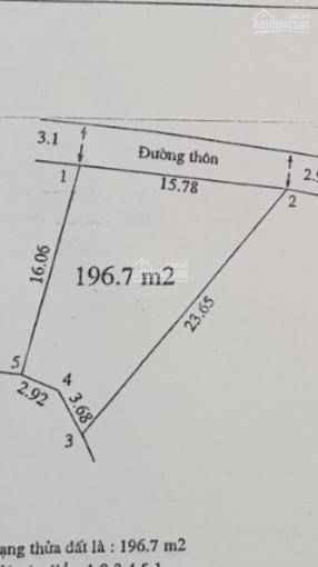 Chính chủ bán 196.7m2 đất tại cao sơn, Tiên Phương, Chương Mỹ, HN, giá 5.5tr/m2; LH 0975404777 ảnh 0