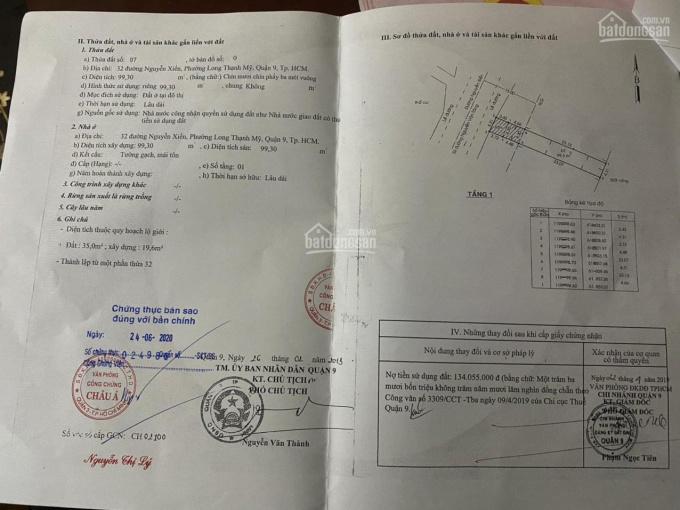 Bán nhà mặt tiền Nguyễn Xiển, Q9, diện tích 100m2, giá 11 tỷ, hiện đang kinh doanh ảnh 0