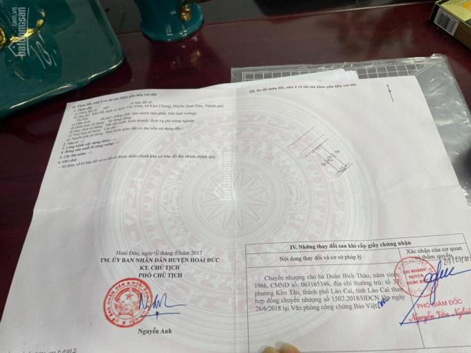Bán đất dịch vụ Kim Chung 68.4m2, giá 72 tr/m2 0968080860 ảnh 0