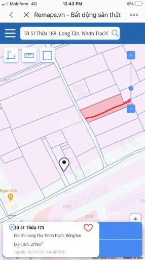 Bán đất Long Tân, Nhơn Trạch, ĐN, cặp swanpar. Diện tích 1725m2, sổ đỏ đầy đủ, pháp lý rõ ràng ảnh 0