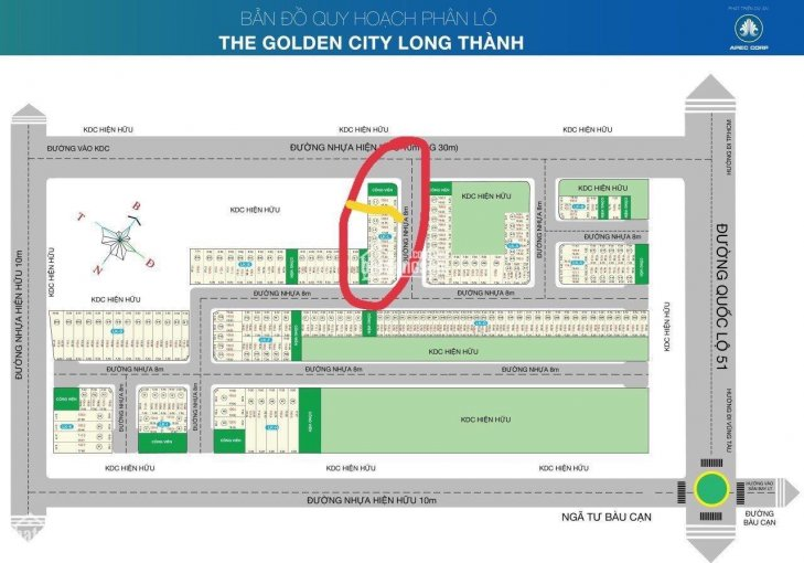 Thu hồi vốn cần sang lại lô đất dự án The Golden City Long Thành giá chỉ 12tr/m2, 0901461505 ảnh 0
