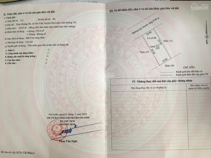 Bán đất rẻ - đẹp huyện Gio Linh - Quảng Trị ảnh 0