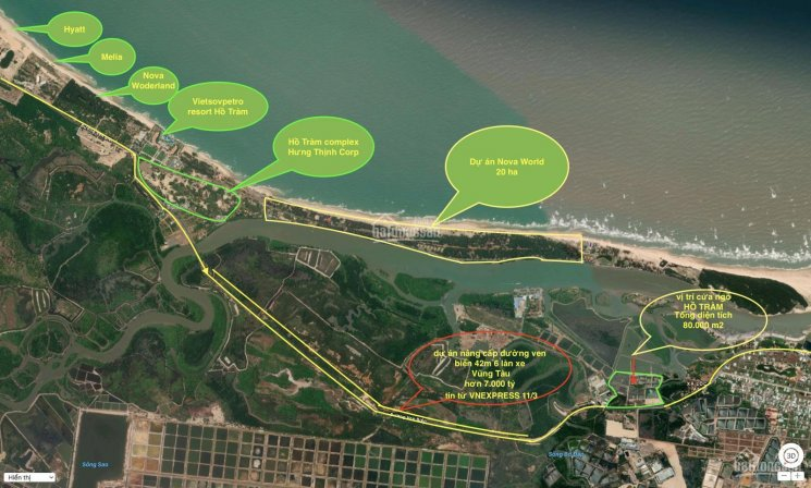 Đất mặt tiền Vũng Tàu - Hồ Tràm - Phan Thiết (vị trí duy nhất ngay đầu ngõ vào các siêu dự án) ảnh 0