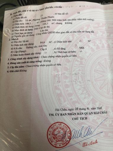 Lô đất mặt tiền Xuân Tâm, Q. Hải Châu view vịnh Đà Nẵng, 107m2 nở hậu. LH: 0918239928 ảnh 0