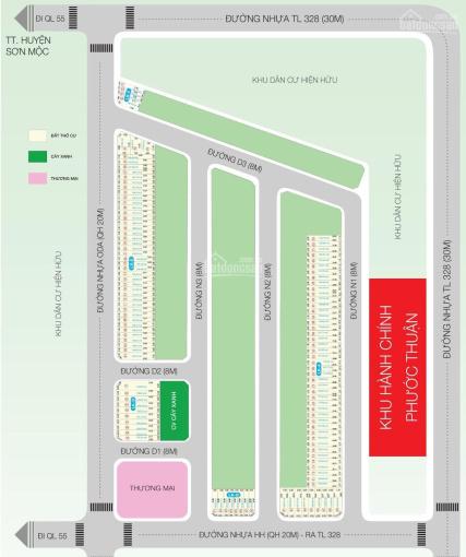 Chính chủ kẹt tiền cần bán gấp lô đất Apec Homes Hồ Tràm 123m2 chỉ 8.9tr/m2, SHR, thổ cư 100m2 ảnh 0