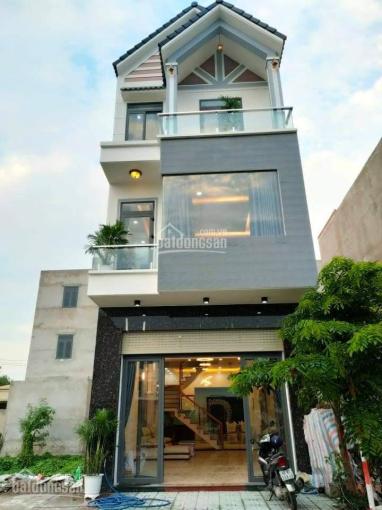Nhà 80m2, 1 trệt 2 lầu, An Phú, Thuận An, Bình Dương full nội thất ảnh 0