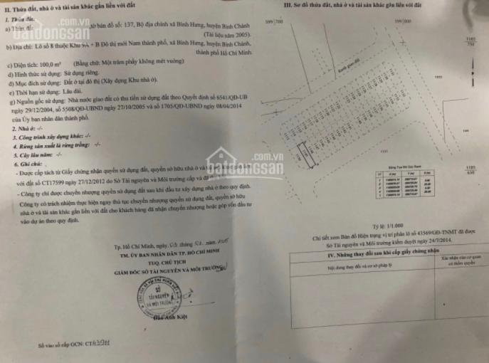 Chính chủ bán gấp đất thổ cư thuộc dự án Dương Hồng, đường Nguyễn Văn Linh, LH ngay 0916253928 ảnh 0